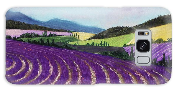 On Lavender Trail Galaxy Case by Anastasiya Malakhova