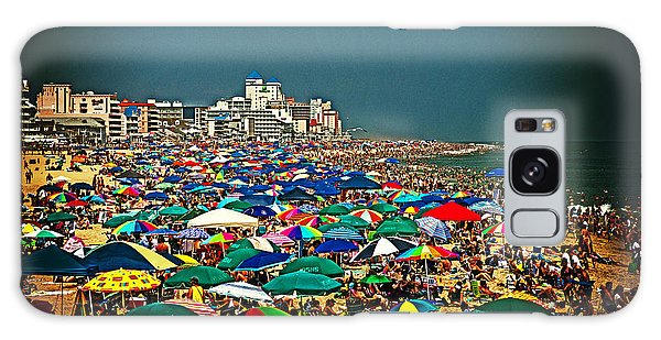 On The Beach In August Galaxy Case by Bill Swartwout
