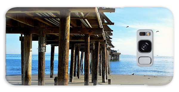 On The Beach In Capitola Galaxy Case by Alex King