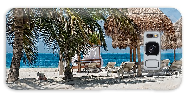 White Sandy Beach In Isla Mujeres Galaxy Case