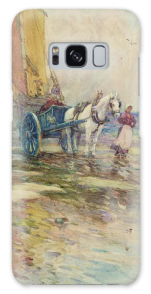 Cart Galaxy Case - On The Beach  by Oswald Garside