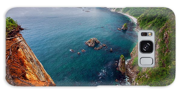 Galaxy Case featuring the photograph On The Edge by Brad Brizek