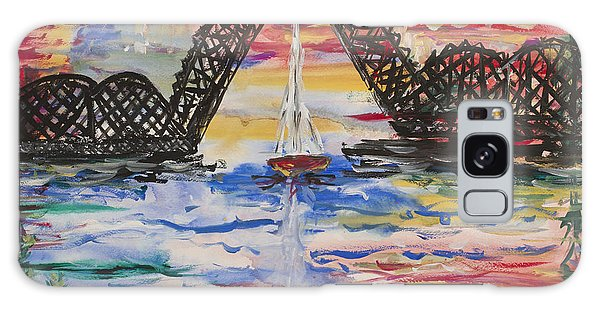 On The Hour. The Sailboat And The Steel Bridge Galaxy Case