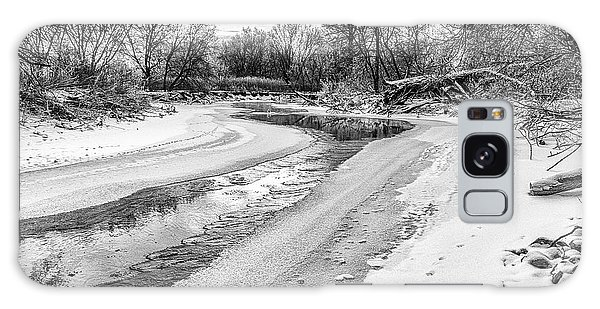 On The Riverbank Bw Galaxy Case