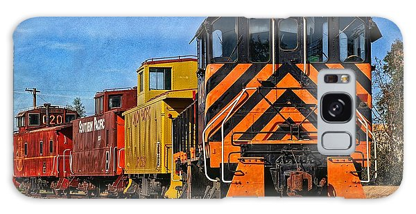 On The Tracks Galaxy Case by Peggy Hughes