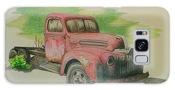 Old Truck Galaxy Case - Once Red by Lew Davis