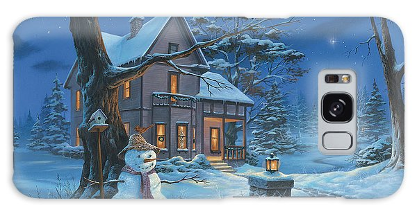 Once Upon A Winter's Night Galaxy Case by Michael Humphries