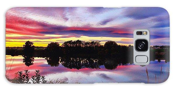 One Autumn Evening Galaxy Case by Lynn Hopwood