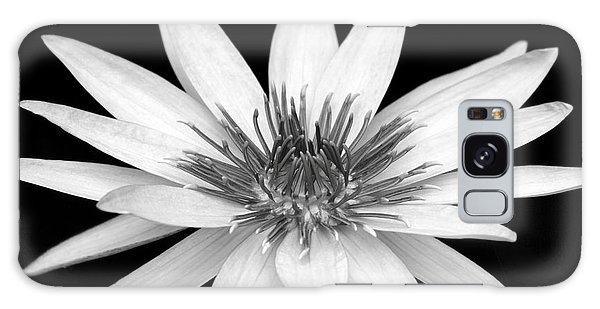 One Black And White Water Lily Galaxy Case