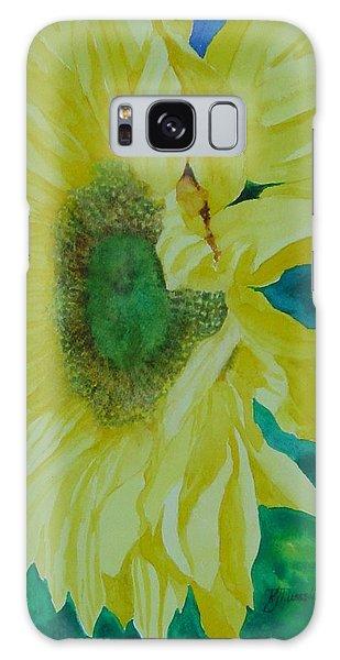 One Bright Sunflower Colorful Original Art Floral Flowers Artist K. Joann Russell Decor Art  Galaxy Case