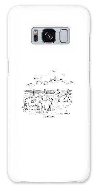 Pasture Galaxy Case - One Cow To Another by David Sipress