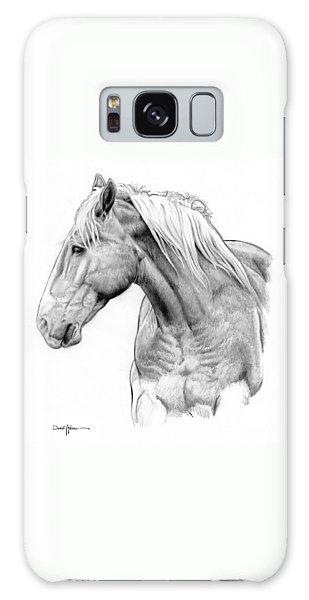 Da134 One Horse Daniel Adams  Galaxy Case