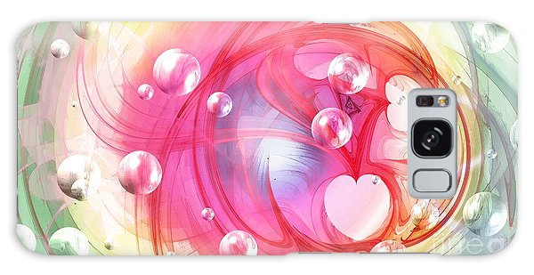 One Love... One Heart... One Life Galaxy Case by Peggy Hughes