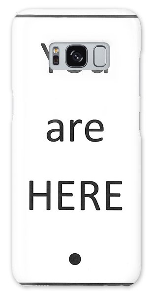One To Ponder - You Are Here Galaxy Case