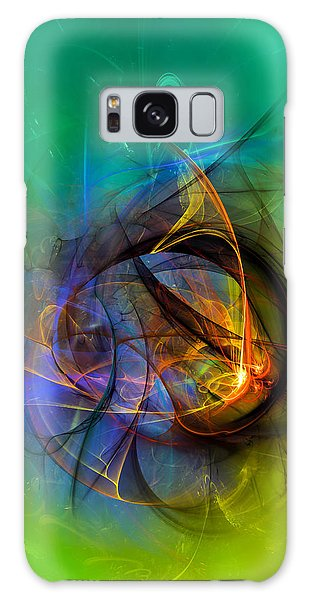 Colorful Digital Abstract Art - One Warm Feeling Galaxy Case