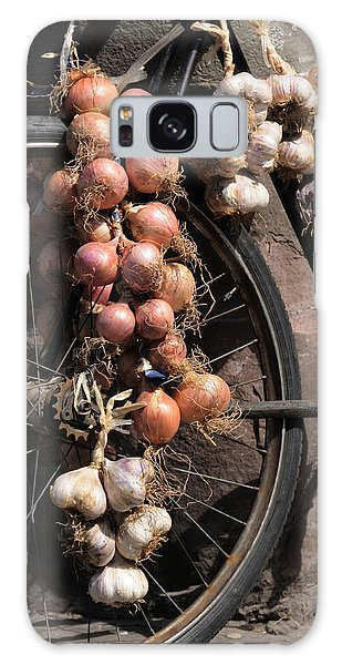 Onions And Garlic On Bike  Galaxy Case by Jeremy Voisey