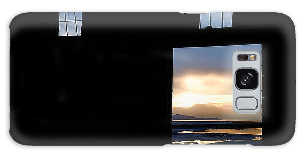 Open Door Sunset - A Great Salt Lake Sunset Galaxy Case by Steven Milner