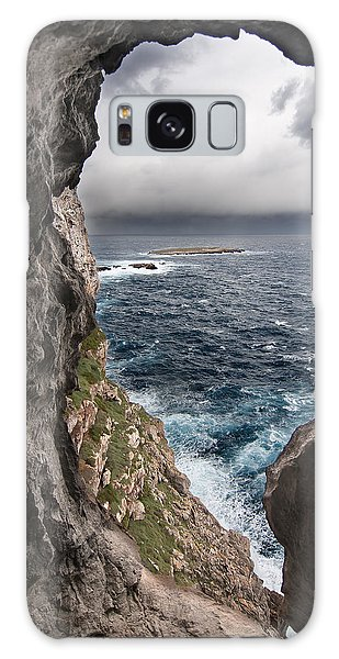 A Natural Window In Minorca North Coast Discover Us An Impressive View Of Sea And Sky - Open Window Galaxy Case