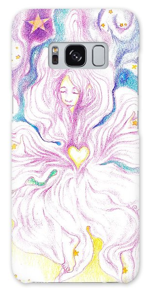 Opening And Blossoming   Dreaming The World Into Being   As She Dances In The Stars Galaxy Case