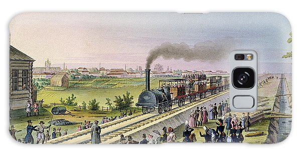 Trains Galaxy Case - Opening Of The First Railway Line From Tsarskoe Selo To Pavlovsk In 1837 by Russian School