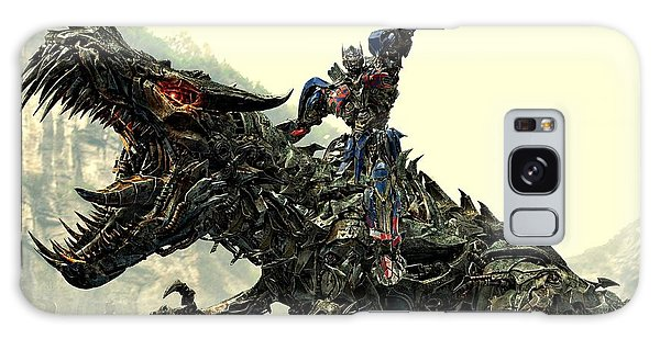 Optimus Prime Riding Grimlock Galaxy Case
