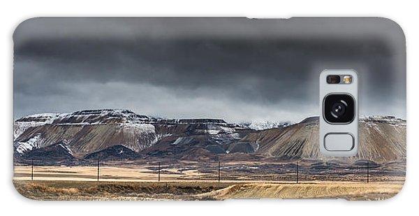 Oquirrh Mountains Winter Storm Panorama 2 - Utah Galaxy Case