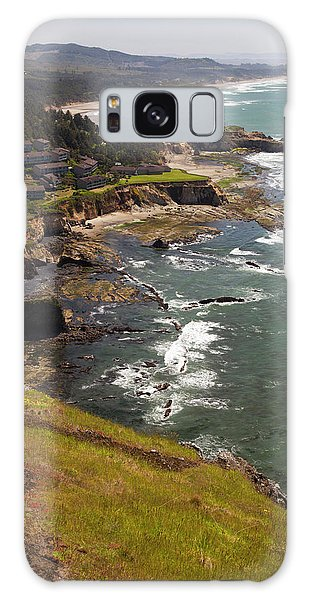 Otter Rock Galaxy Case - Or, Cape Foulweather, View Of Beach by Jamie and Judy Wild
