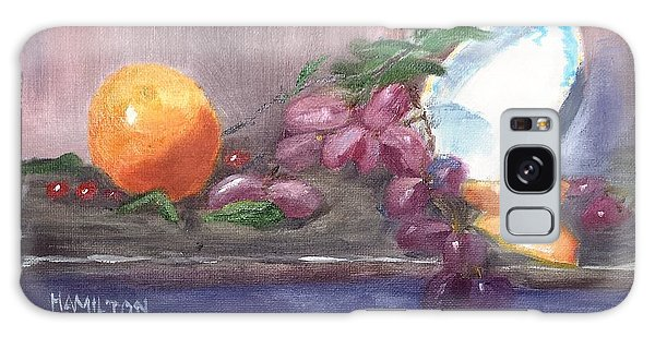 Orange And Grapes Still Life Galaxy Case