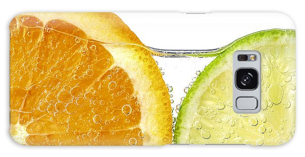 Orange And Lime Slices In Water Galaxy Case