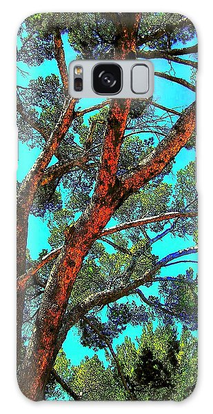 Orange And Turquoise  Galaxy Case by Jodie Marie Anne Richardson Traugott          aka jm-ART