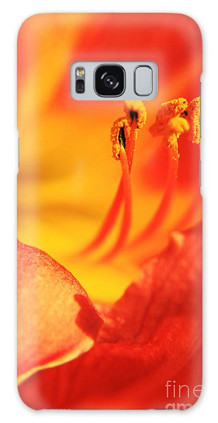 Orange Blooming Galaxy Case