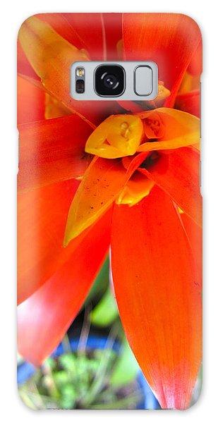 Orange Bromeliad Galaxy Case by Lehua Pekelo-Stearns