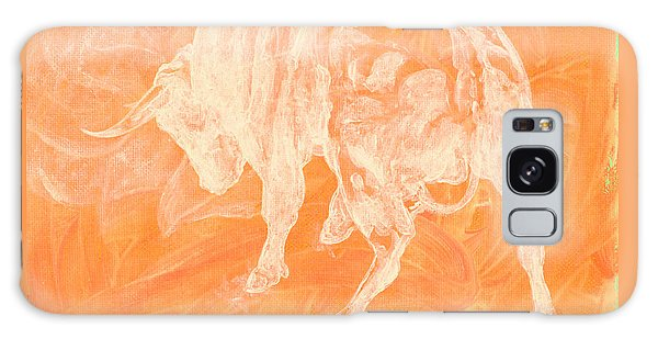 Orange Bull Negative Galaxy Case