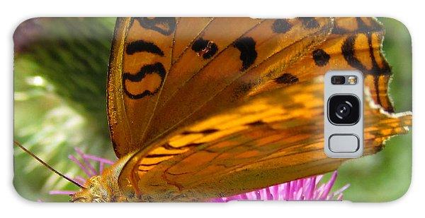 Buy Art Online Galaxy Case - Orange Butterfly by Alexandros Daskalakis