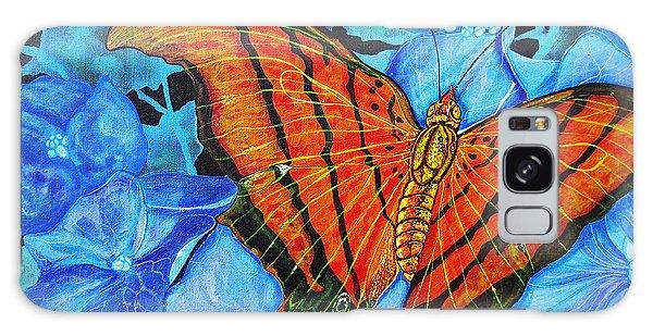 Orange Butterfly Galaxy Case by Debbie Chamberlin