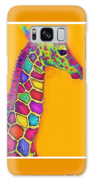 Orange Carosel Giraffe Galaxy Case