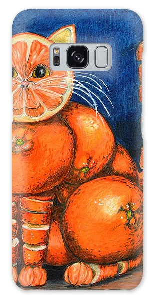Orange Cat Galaxy Case