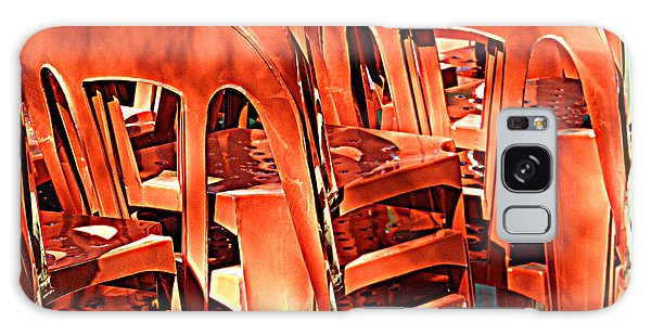 Orange Chairs Galaxy Case by Valerie Reeves