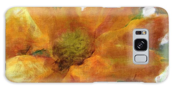 Orange Chrysanthemem Photoart Galaxy Case by Debbie Portwood