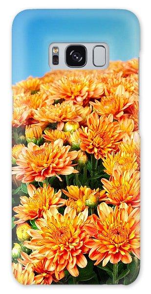 Orange Chyrsanthemum Galaxy Case