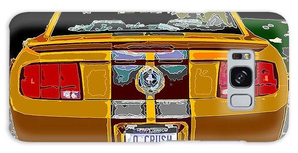 Orange Crush Mustang Rear View Galaxy Case