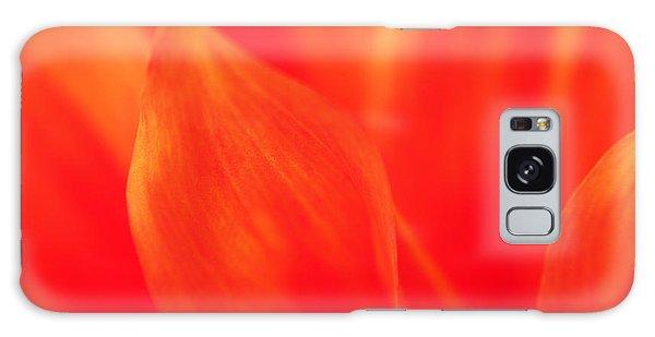 Orange Dahlia Abstract Galaxy Case by Olivia Hardwicke