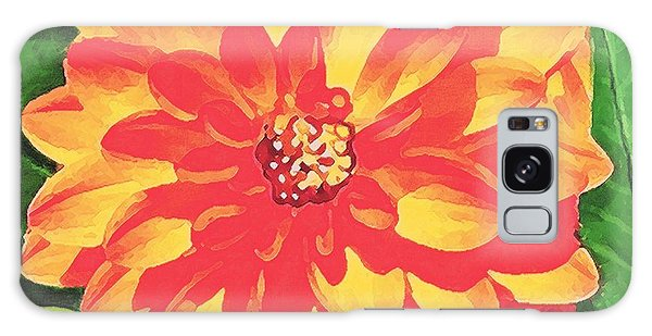Orange Dahlia Galaxy Case by Sophia Schmierer