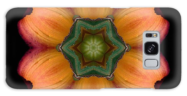 Orange Daylily Flower Mandala Galaxy Case