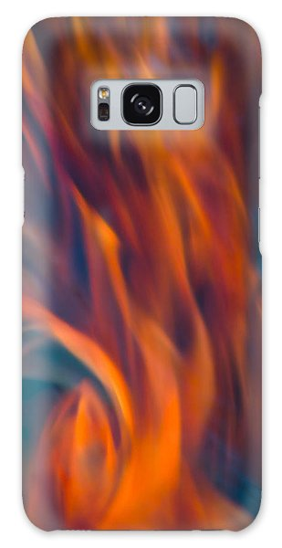 Orange Fire Galaxy Case by Yulia Kazansky