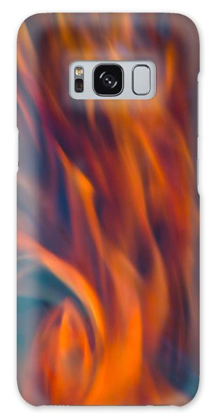 Orange Fire Galaxy Case