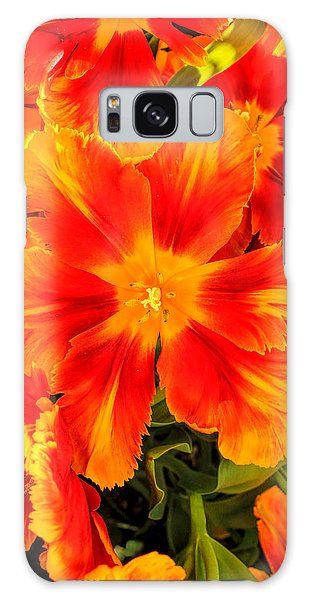 Orange Flames Galaxy Case by Pat Cook