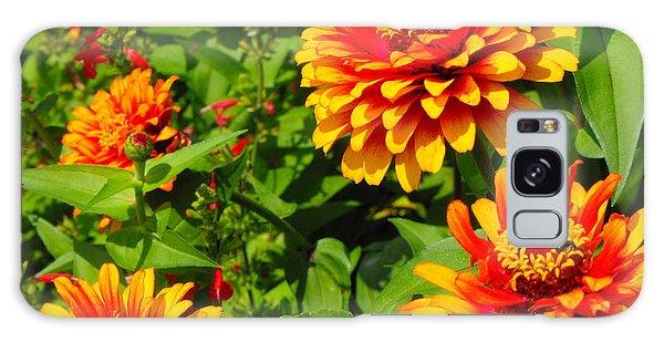 Orange Flower Bloom Galaxy Case by Erick Schmidt