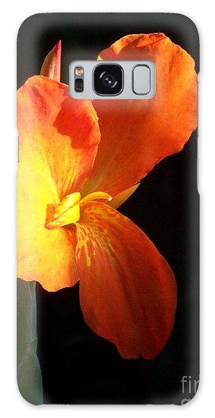 Orange Flower Canna Galaxy Case