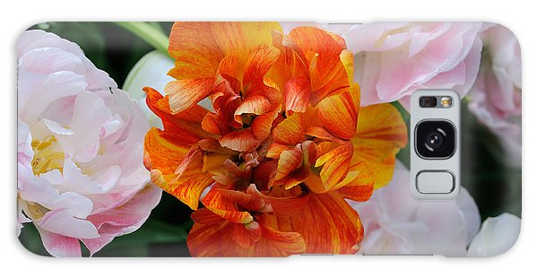 Orange Flower Galaxy Case by Haleh Mahbod